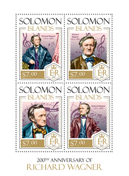 Richard Wagner - Issue of Solomon islands postage stamps
