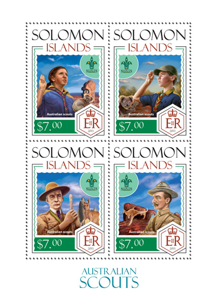 Australian Scouts - Issue of Solomon islands postage stamps