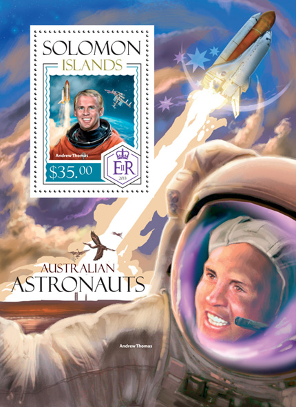Australian Astronauts - Issue of Solomon islands postage stamps