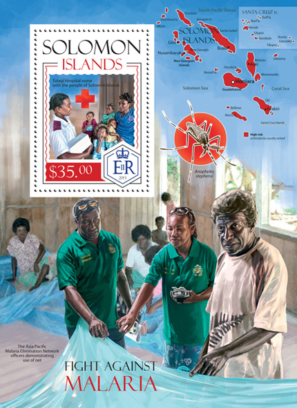 Malaria - Issue of Solomon islands postage stamps