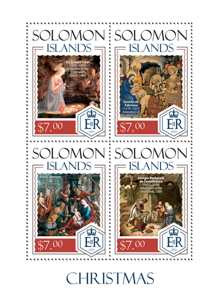 Christmas - Issue of Solomon islands postage stamps