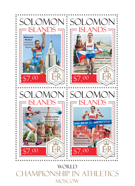Moscow 2013 - Issue of Solomon islands postage stamps