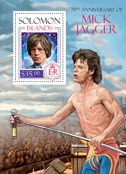 Mick Jagger - Issue of Solomon islands postage stamps