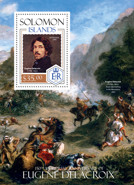 Eugene Delacroix - Issue of Solomon islands postage stamps