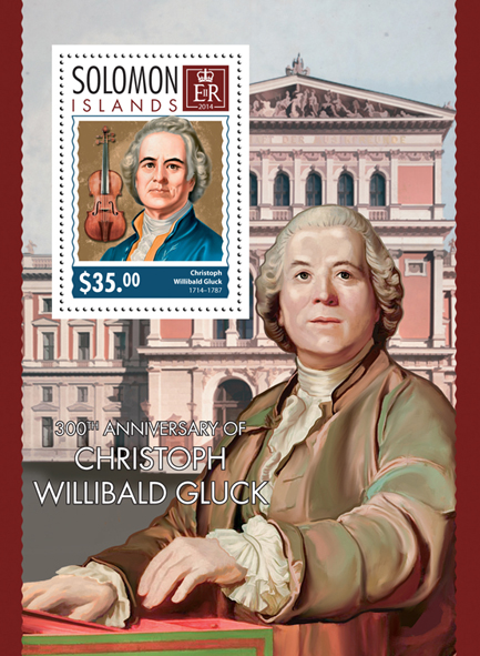 Christoph Willibald Gluck - Issue of Solomon islands postage stamps