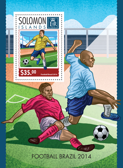 Football Brazil 2014  - Issue of Solomon islands postage stamps