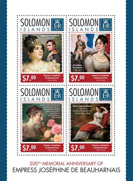 Joséphine de Beauharnais - Issue of Solomon islands postage stamps