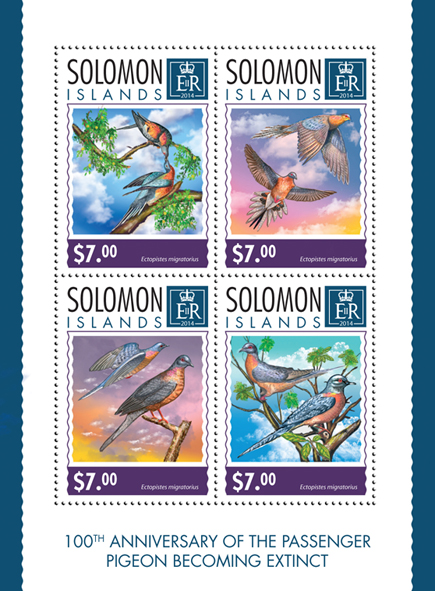 Pigeon - Issue of Solomon islands postage stamps
