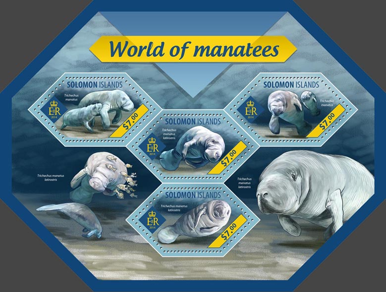 Manatees - Issue of Solomon islands postage stamps
