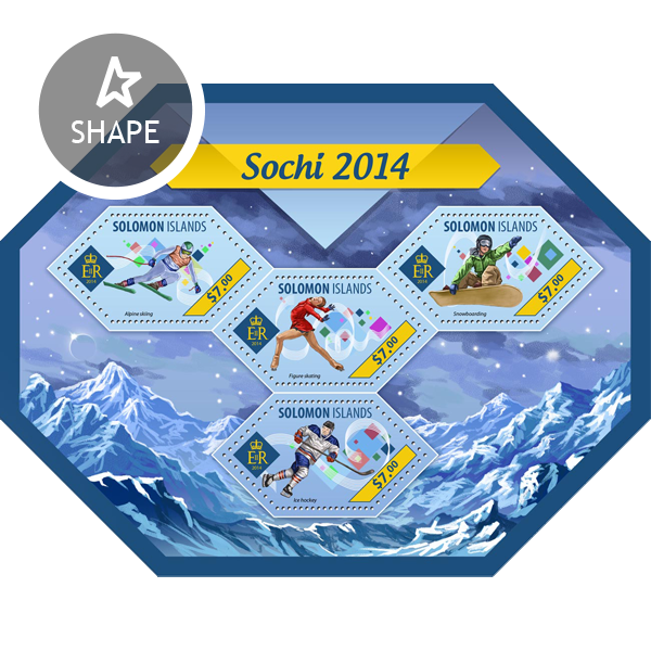 Sochi 2014 - Issue of Solomon islands postage stamps