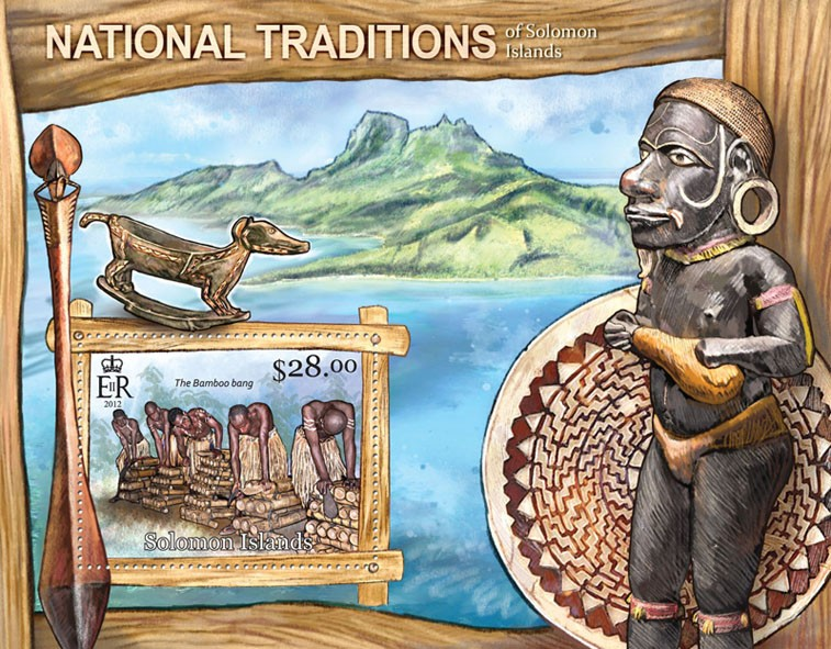 National Traditions - Issue of Solomon islands postage stamps