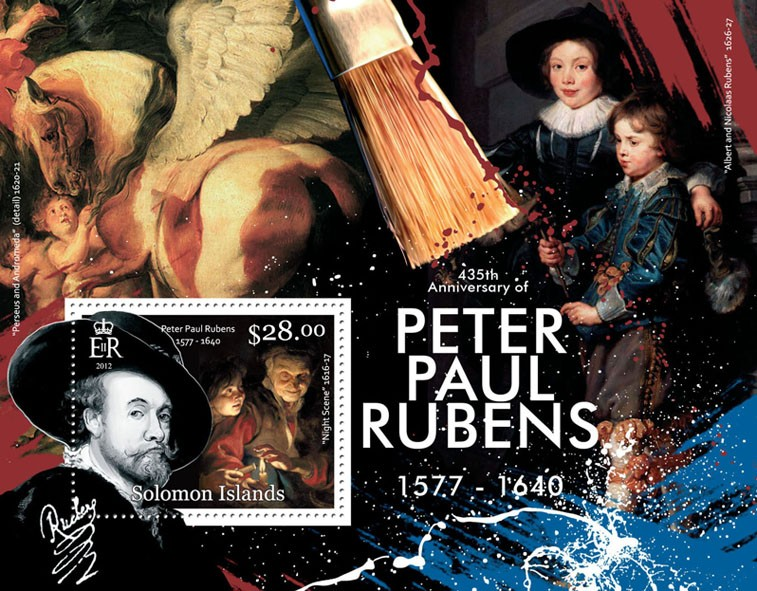 Peter Paul Rubens - Issue of Solomon islands postage stamps