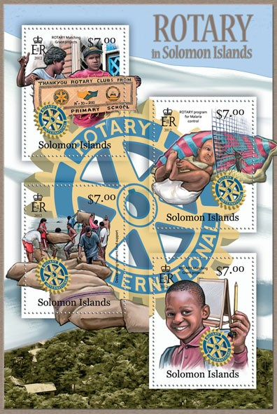 Rotary  - Issue of Solomon islands postage stamps