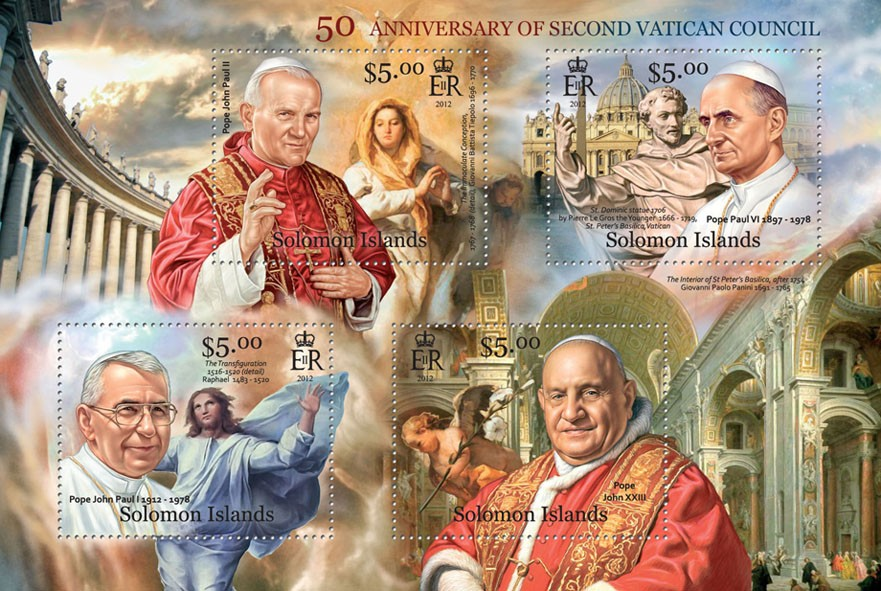 Vatican Council - Issue of Solomon islands postage stamps