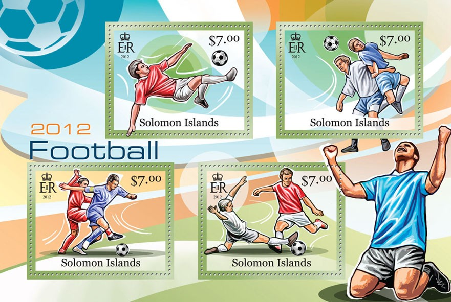 Football 2012 - Issue of Solomon islands postage stamps
