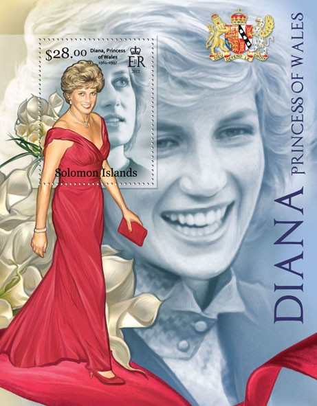 Diana, Princess of Wales - Issue of Solomon islands postage stamps