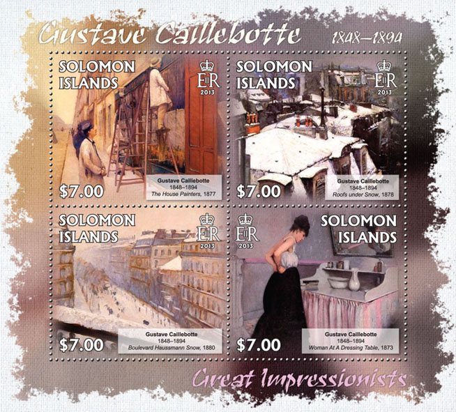 Gustave Caillebotte - Issue of Solomon islands postage stamps