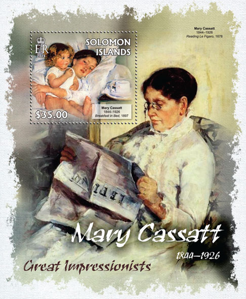 Mary Cassatt - Issue of Solomon islands postage stamps