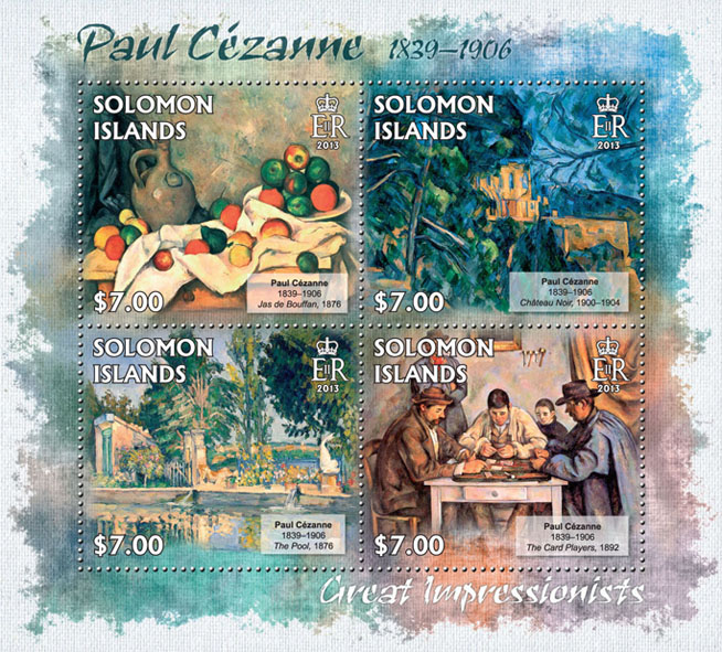 Paul Cezanne - Issue of Solomon islands postage stamps