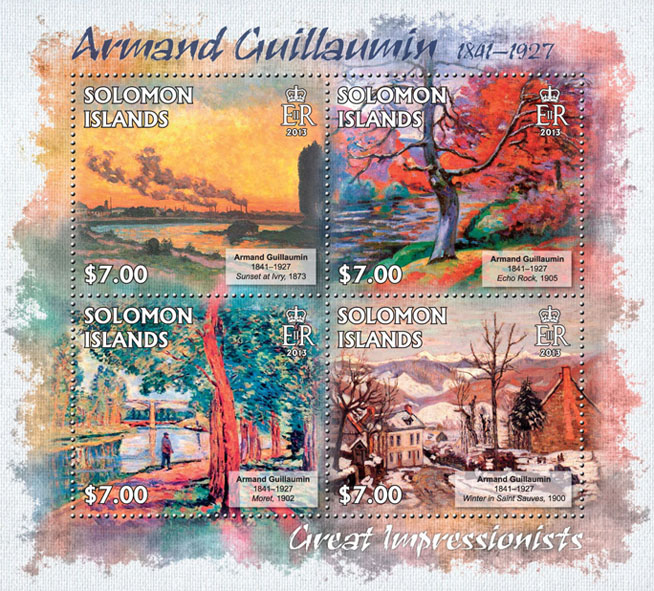 Armand Guillaumin - Issue of Solomon islands postage stamps