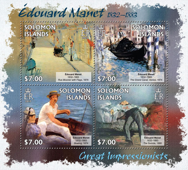Edouard Manet - Issue of Solomon islands postage stamps
