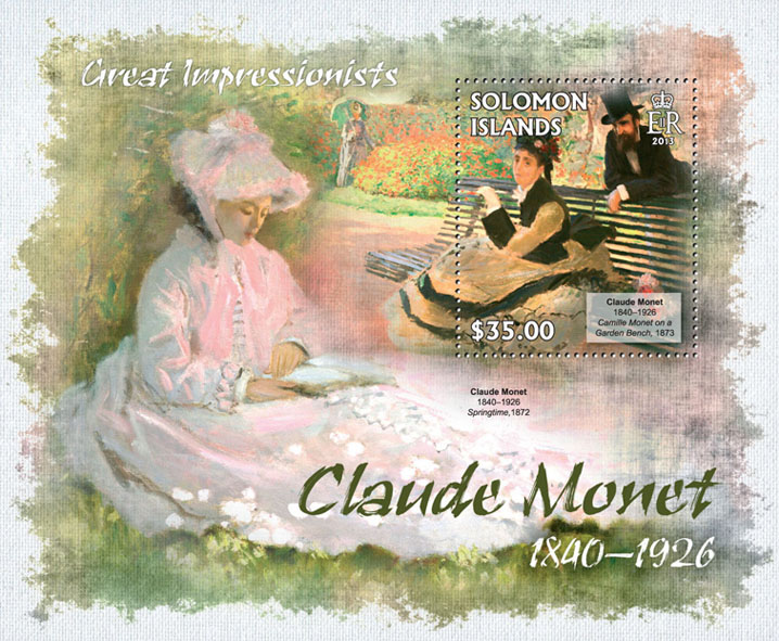 Claude Monet - Issue of Solomon islands postage stamps
