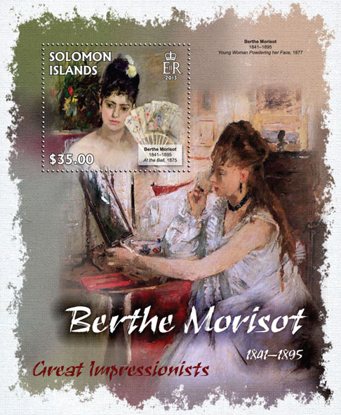 Berthe Morisot - Issue of Solomon islands postage stamps