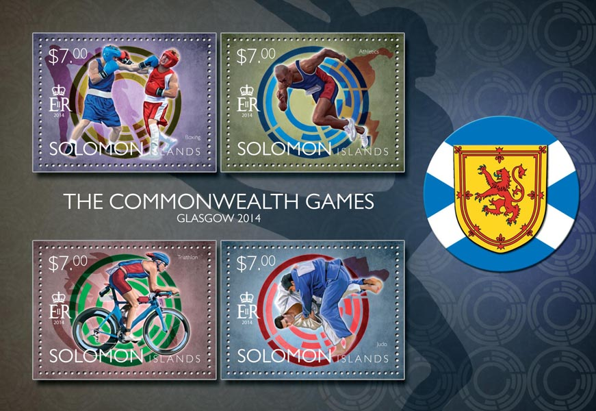 Glasgow 2014 - Issue of Solomon islands postage stamps