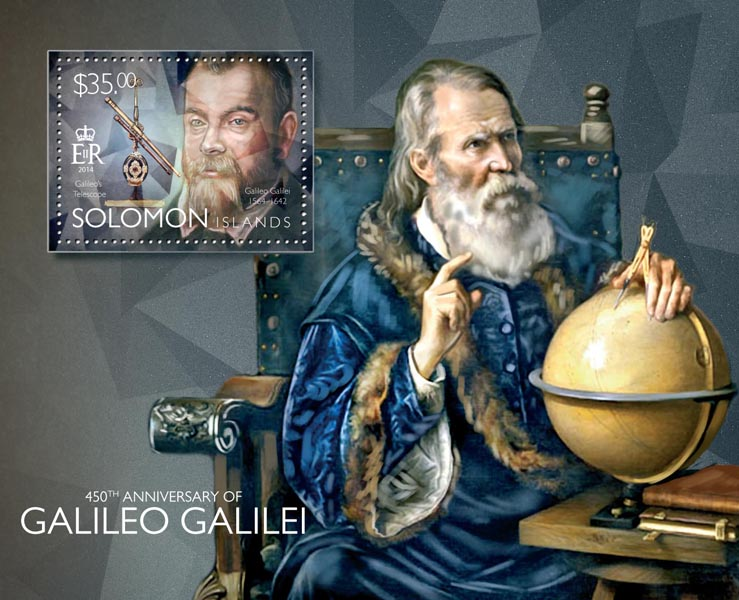 Galileo Galilei - Issue of Solomon islands postage stamps