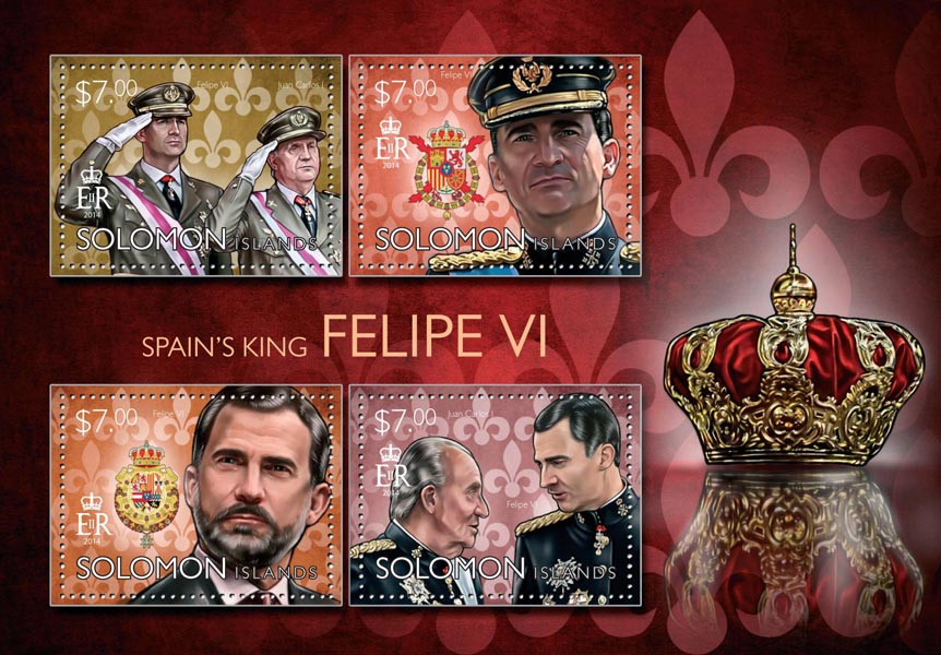 Felipe VI  - Issue of Solomon islands postage stamps