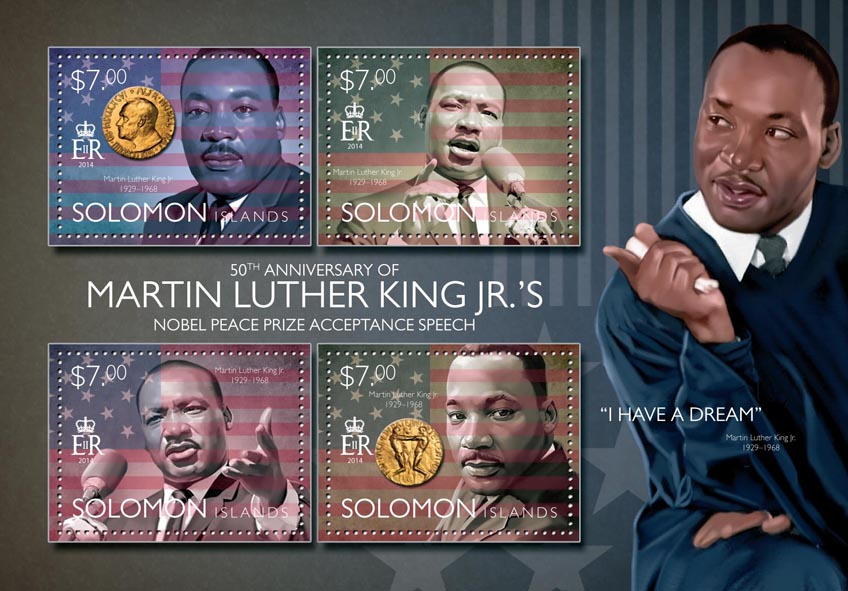 Martin Luther King Jr.'s - Issue of Solomon islands postage stamps
