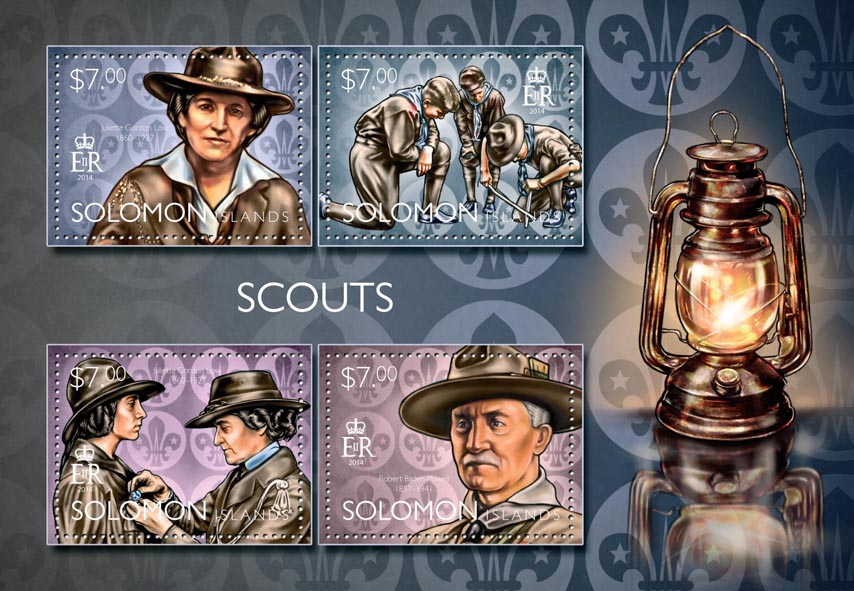 Scouts  - Issue of Solomon islands postage stamps