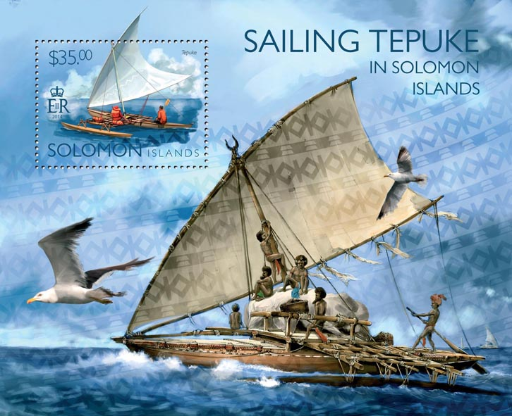 Sailing Tepuke - Issue of Solomon islands postage stamps