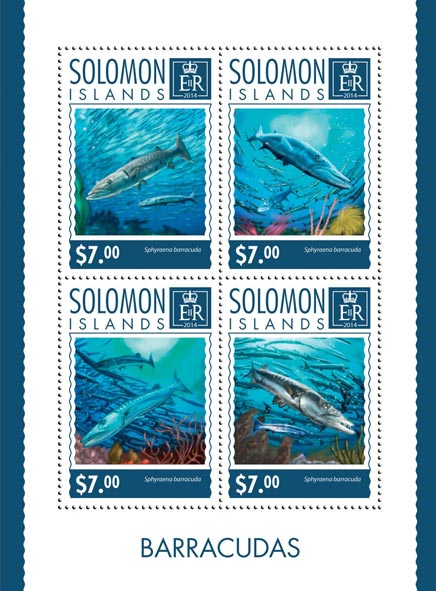 Barracudas - Issue of Solomon islands postage stamps
