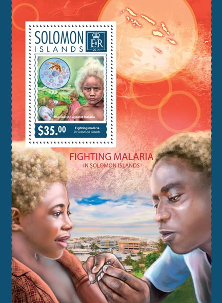 Fighting Malaria - Issue of Solomon islands postage stamps