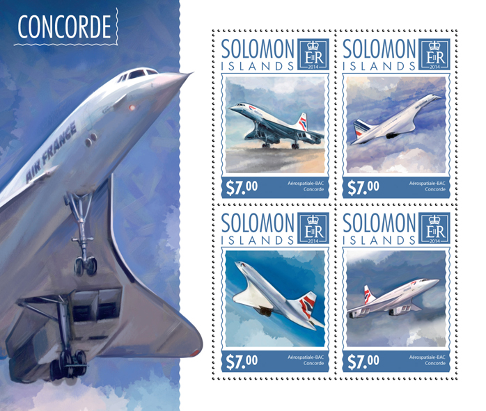 Concorde - Issue of Solomon islands postage stamps