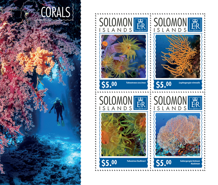 Corals - Issue of Solomon islands postage stamps
