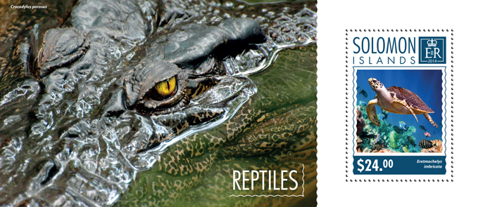 Reptiles - Issue of Solomon islands postage stamps