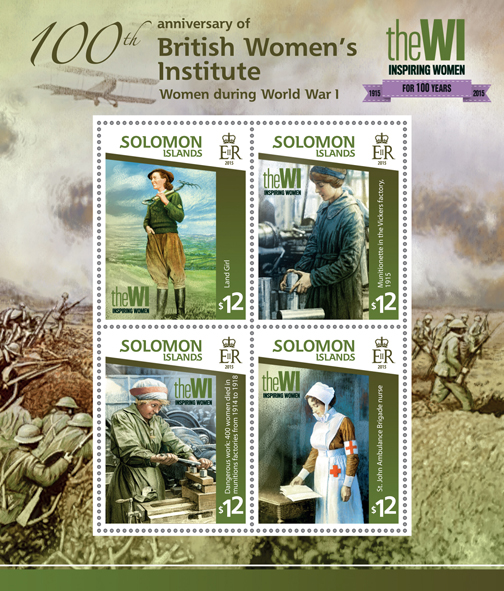 British Women's Institute - Issue of Solomon islands postage stamps