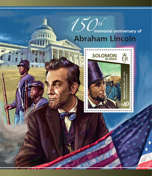Abraham Lincoln - Issue of Solomon islands postage stamps
