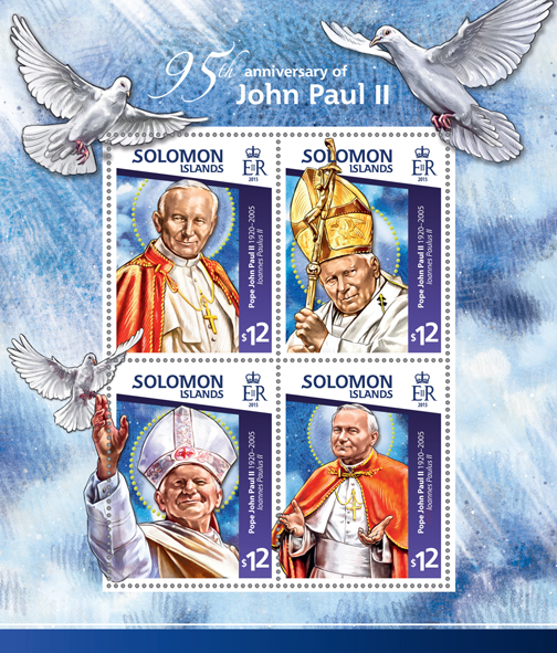 John Paul II  - Issue of Solomon islands postage stamps