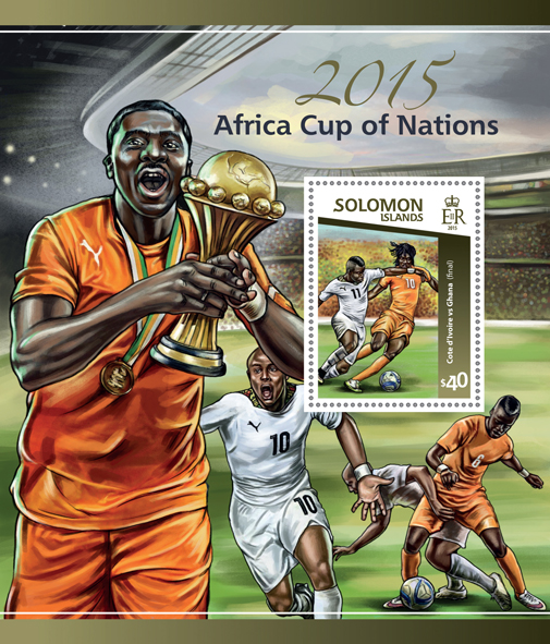 2015 Africa Cup of Nations - Issue of Solomon islands postage stamps