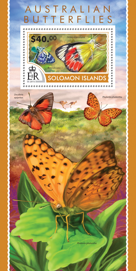 Australian butterflies - Issue of Solomon islands postage stamps