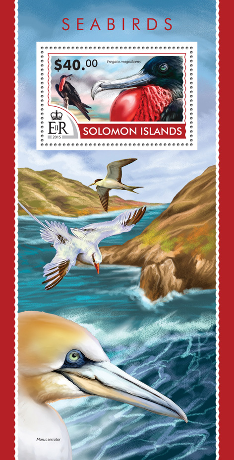 Seabirds - Issue of Solomon islands postage stamps