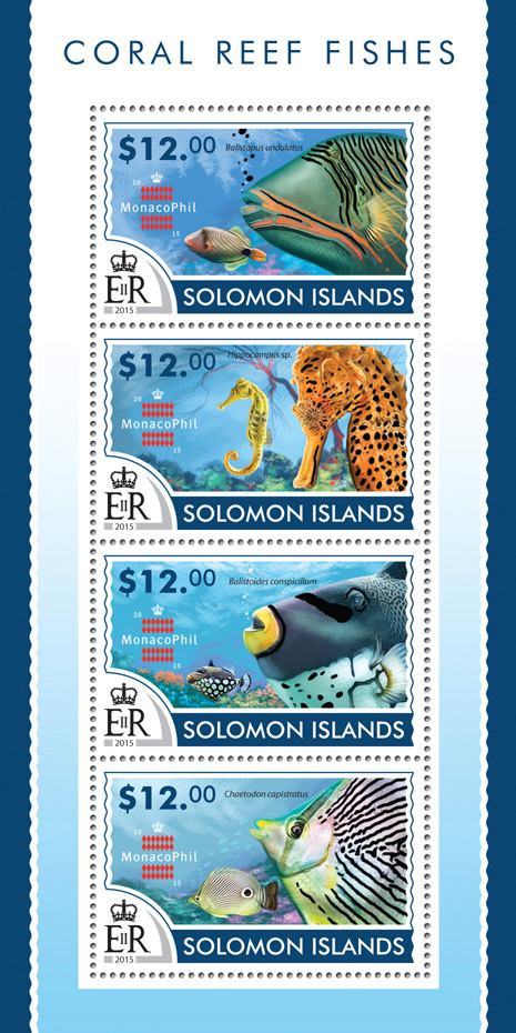 Coral Reef fishes - Issue of Solomon islands postage stamps