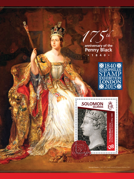 The Penny Black  - Issue of Solomon islands postage stamps