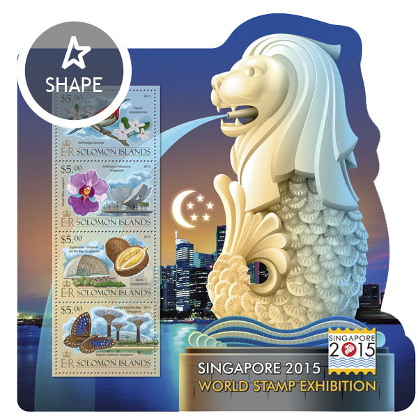 Singapore 2015 World Stamp Exhibition - Issue of Solomon islands postage stamps
