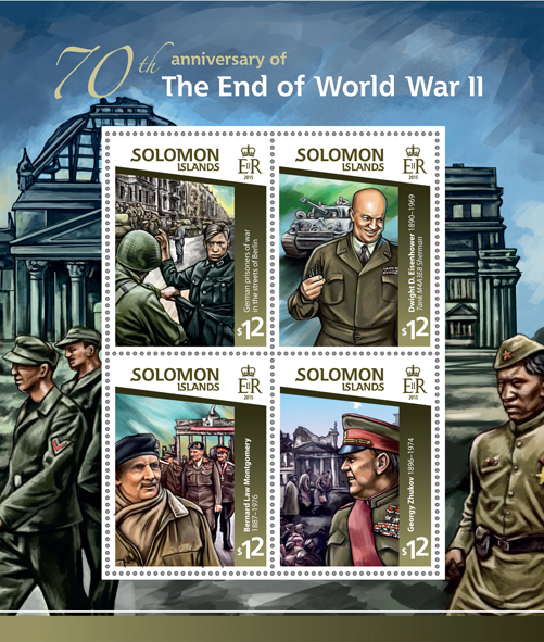 World War II - Issue of Solomon islands postage stamps