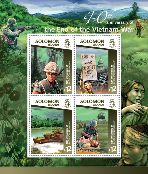 Vietnam war  - Issue of Solomon islands postage stamps