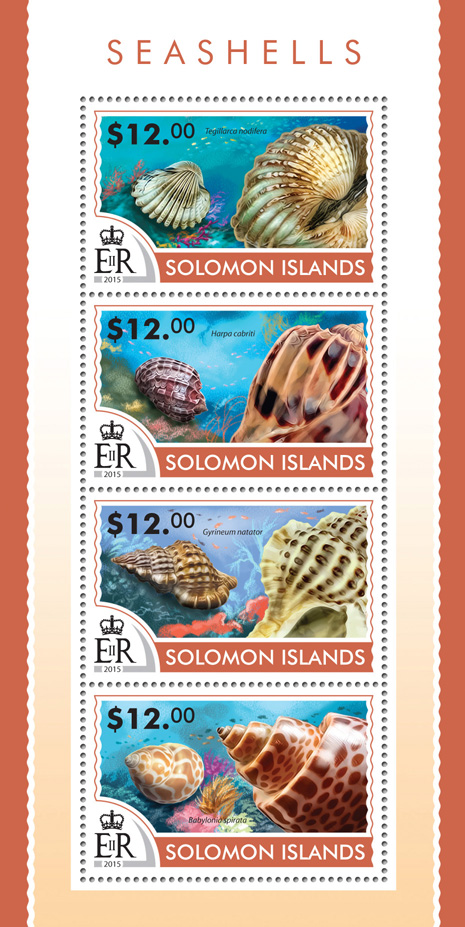 Seashells - Issue of Solomon islands postage stamps